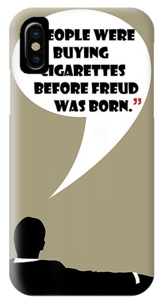 Buying Cigarettes - Mad Men Poster Don Draper Quote IPhone Case