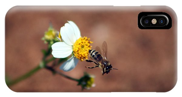 Honeybee iPhone X Case - Buzz Off by Evelyn Patrick