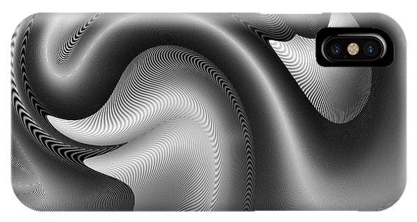 IPhone Case featuring the digital art Bw Art 9 by Visual Artist Frank Bonilla