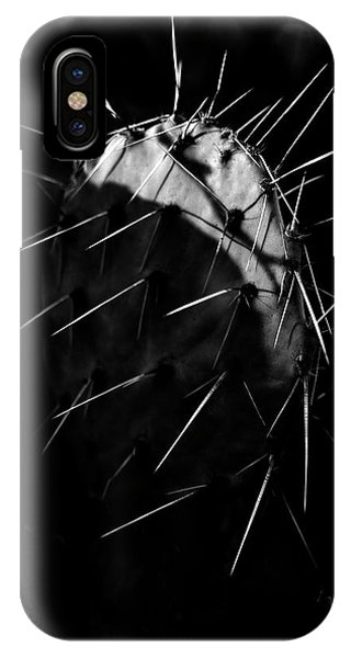Fine Art iPhone Case - Bw Cactus Thorns by Fine Art