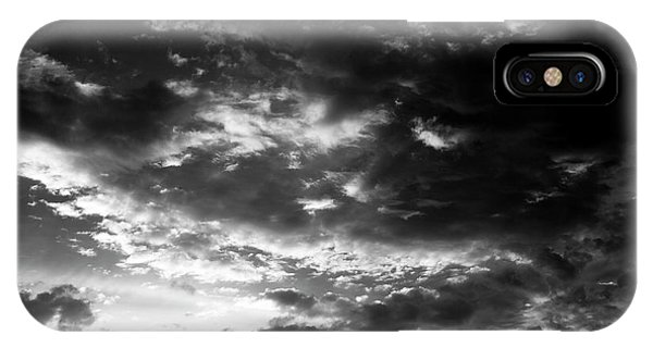 IPhone Case featuring the photograph Bw Sky by Eric Christopher Jackson