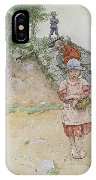 Art And Craft iPhone Case - By The Cellar by Carl Larsson