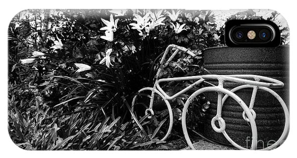 By The Flower Garden. IPhone Case
