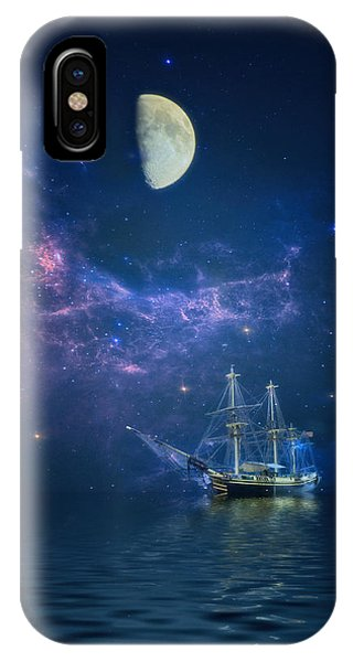 By Way Of The Moon And Stars IPhone Case