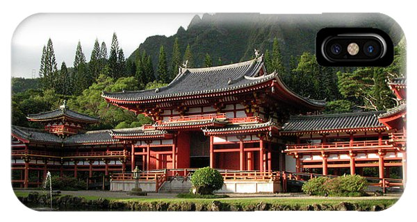 IPhone Case featuring the photograph Byodo-in Temple, Oahu, Hawaii by Mark Czerniec