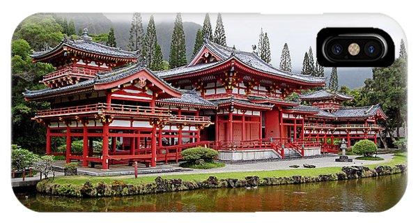 Byodo-in Temple Oahu IPhone Case