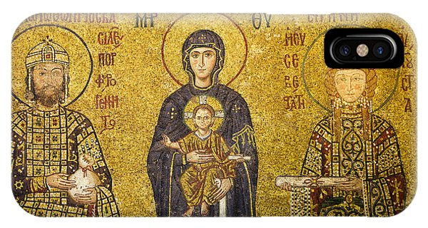 Byzantine Mosaic In Hagia Sophia IPhone Case