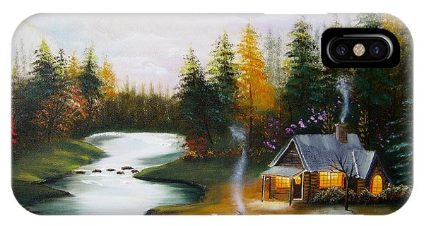 Cabin By The River IPhone Case