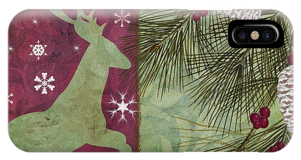 Amaryllis iPhone Case - Cabin Christmas II by Mindy Sommers