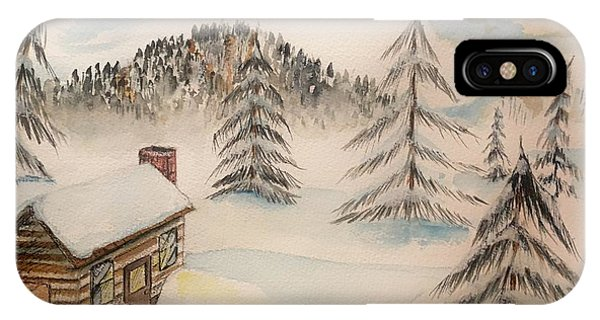 Cabin In The Rockies IPhone Case