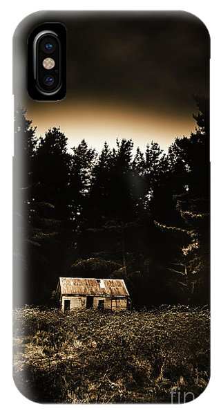 Exterior iPhone Case - Cabin In The Woodlands  by Jorgo Photography - Wall Art Gallery