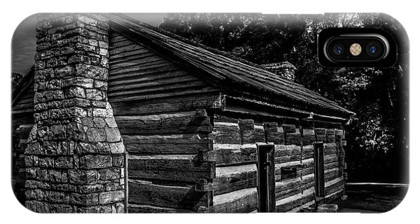 IPhone Case featuring the photograph Cabin On The Grounds At The Hermitage by James L Bartlett