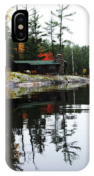 Cabin On The Rocks IPhone Case
