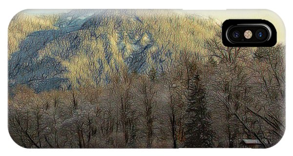 Cabin On The Skagit River IPhone Case
