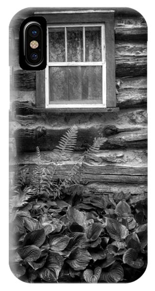 Cabin Window In Black And White IPhone Case