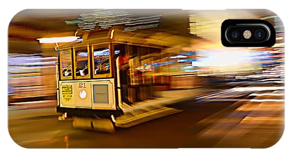 Cable Car At Light Speed IPhone Case