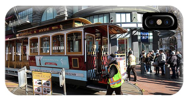 Cable Car At Union Square IPhone Case