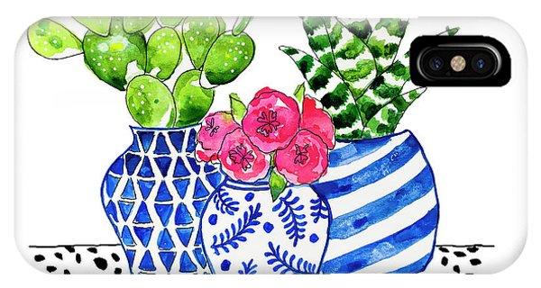 Cactus iPhone Case - Cactus Garden by Roleen Senic