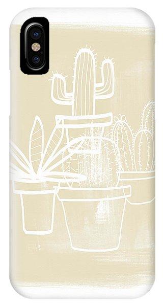 Cactus iPhone Case - Cactus In Pots- Art By Linda Woods by Linda Woods