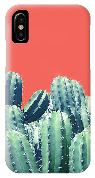 Cactus On Coral IPhone Case