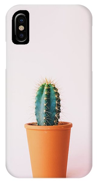 Succulent iPhone Case - Cactus Pot by Happy Home Artistry