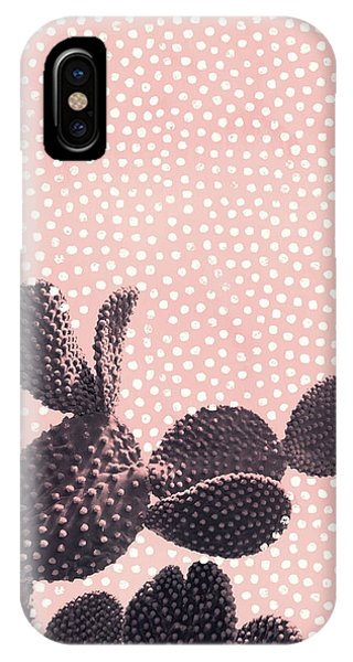 Cactus With Polka Dots IPhone Case