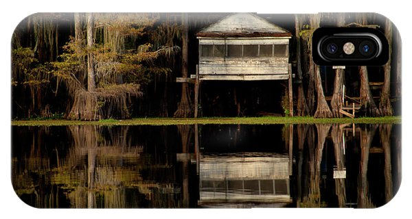 Caddo Lake Boathouse IPhone Case