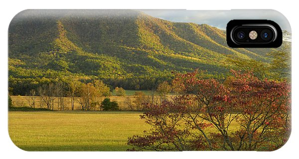 Cades Cove Autumn Sunset In Great Smoky Mountains Phone Case by Darrell Young
