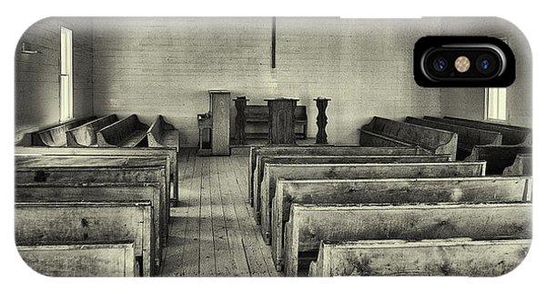 Cades Cove Methodist Church IPhone Case