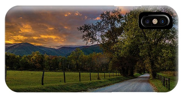 IPhone Case featuring the photograph Cades Cove Sunrise by Michael Sussman