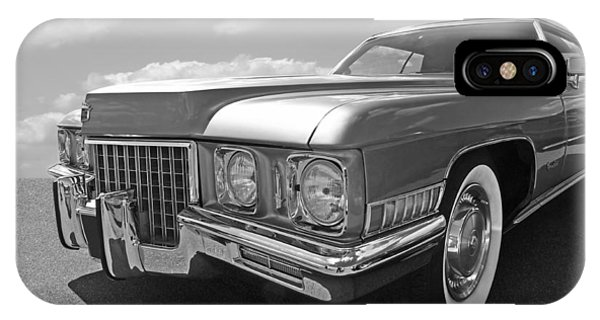 Cadillac Coupe De Ville 1971 In Black And White IPhone Case