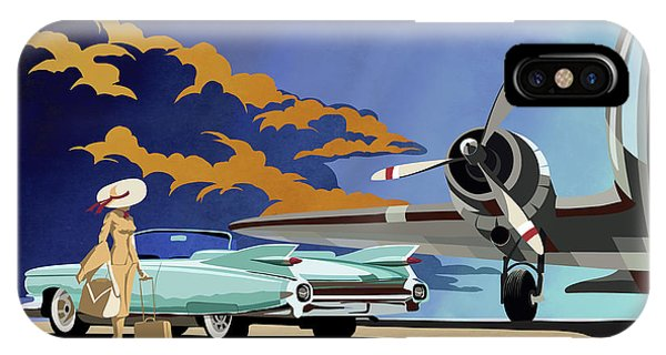 Cars iPhone Case - Cadillac Eldorado 1959 by Sassan Filsoof