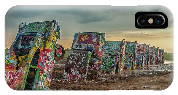 Cadillac Ranch Before The Rain IPhone Case