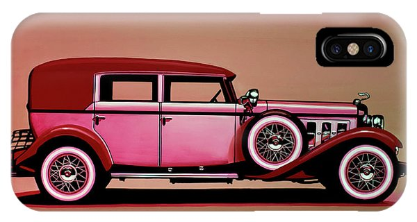 Harley iPhone Case - Cadillac V16 Mixed Media by Paul Meijering
