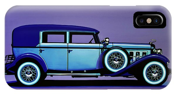 Harley iPhone Case - Cadillac V16 1930 Painting by Paul Meijering