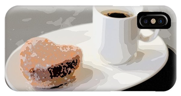 Cafe Americano And Heart Shaped Doughnut IPhone Case
