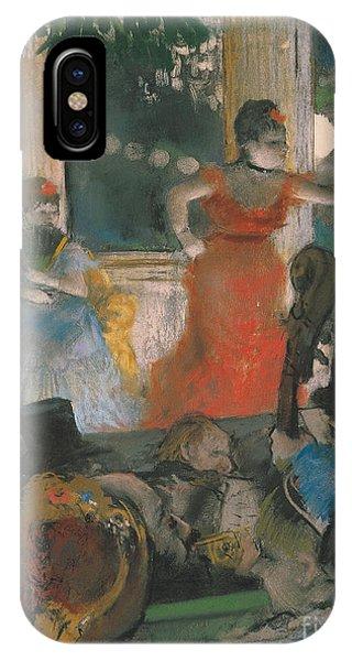 Cafe iPhone Case - Cafe Concert At Les Ambassadeurs by Edgar Degas