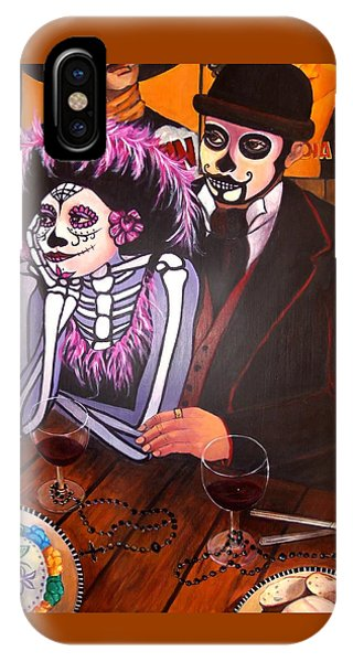 Cafe- Day Of The Dead IPhone Case