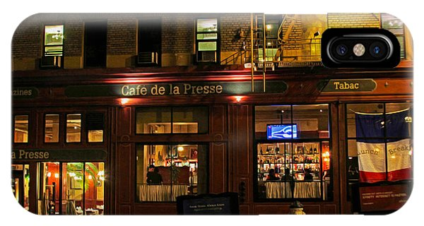 Cafe De La Presse On Bush St IPhone Case