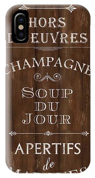 Dinner iPhone Case - Cafe De Paris 2 by Debbie DeWitt
