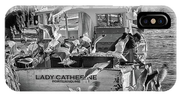 Cafe Lady Catherine Black And White IPhone Case