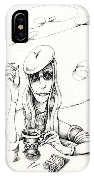 Cafe Lady IPhone Case