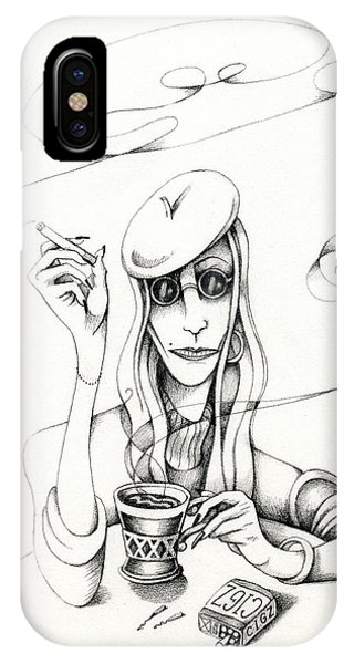 Cafe Lady IPhone Case