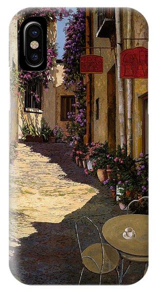 Street iPhone Case - Cafe Piccolo by Guido Borelli