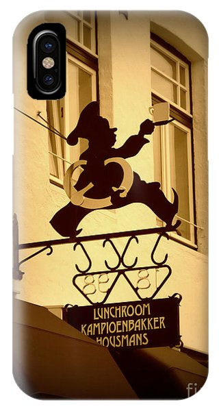 Holland iPhone Case - Cafe Sign In Holland by Carol Groenen
