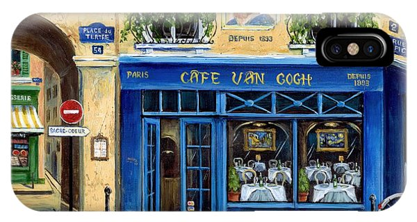 Street Sign iPhone Case - Cafe Van Gogh II by Marilyn Dunlap