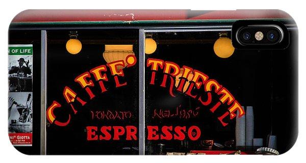 Caffe Trieste Espresso Window IPhone Case