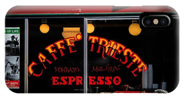 Caffe Trieste Espresso Window IPhone Case
