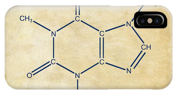 Scent iPhone Case - Caffeine Molecular Structure Vintage by Nikki Marie Smith