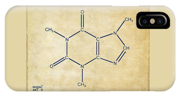 Caffeine Molecular Structure Vintage IPhone Case